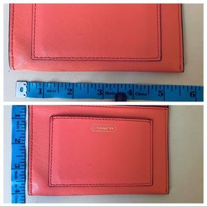 Coach Bags - COACH Pink Leather Coin Cardholder & Keychain EUC